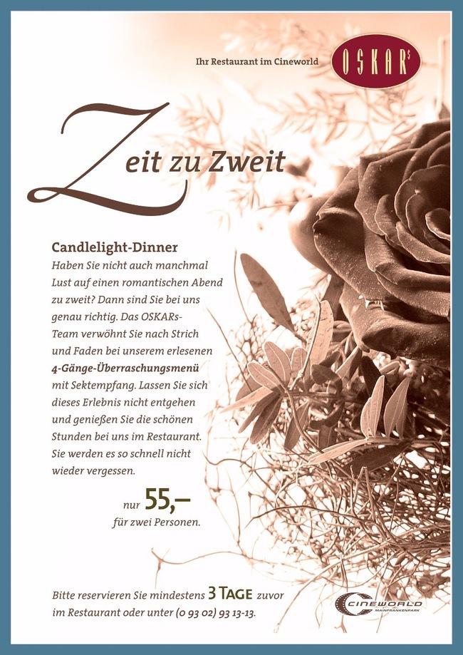 Candlelight-Dinner | Cineplex Dettelbach