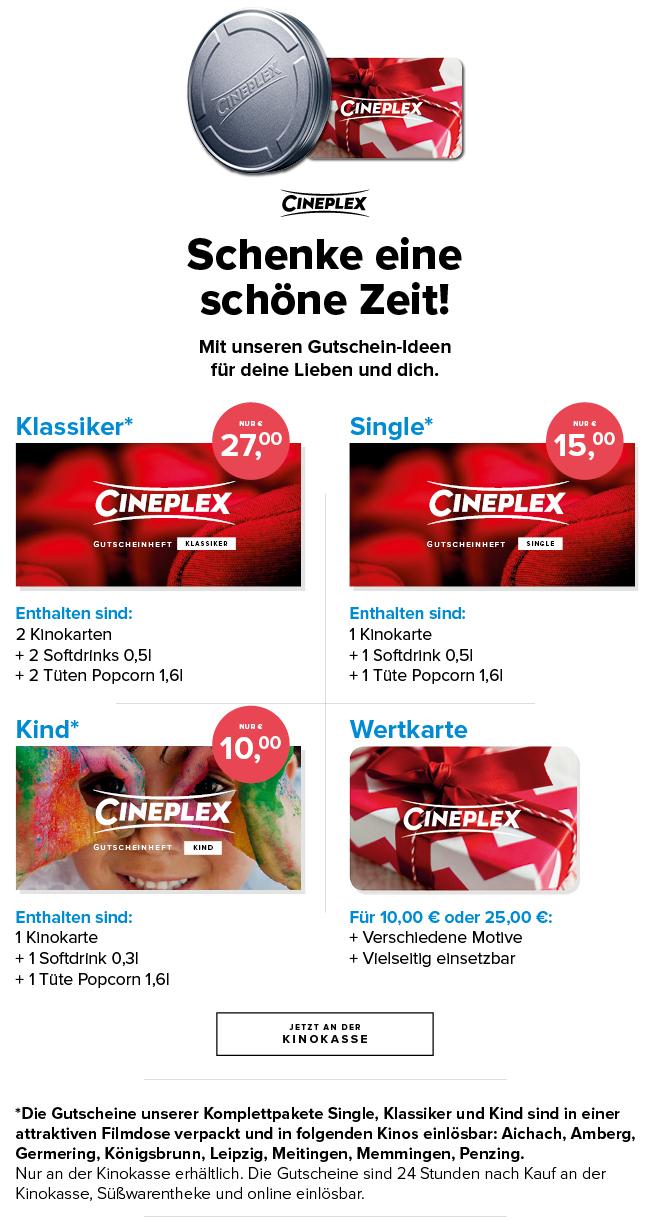 Cineplex geschenkbox single